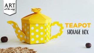 Teapot Storage Box  Simple Organizer  DIY Paper Crafts  DIY Kitchen Decoration  Desk Decor Ideas