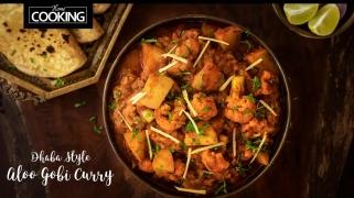 Dhaba Style Aloo Gobi Curry  Potato Cauliflower Curry  Side Dish For Chapati & Roti