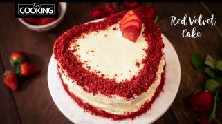 Eggless Red Velvet Cake  Red Velvet Cake  Valentine Special Cake Recipes  Heart Shape Cake