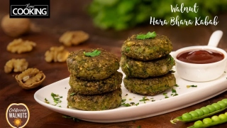 Walnut Hara Bhara Kabab  Kebab Recipe  Snacks Recipe  Healthy Recipes  Easy Recipes  Starter