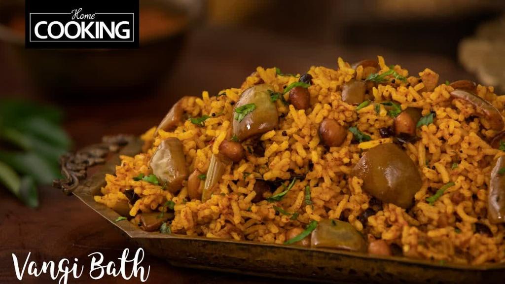 Vangi Bath  Vangi Bath Masala Powder  Brinjal Rice  Rice Recipes  Homecooking