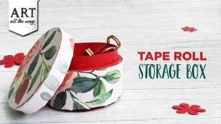 Tape Role Storage Box  Best out of waste  Desk Organizer  DIY Paper Crafts  Home Decor  Upcycle