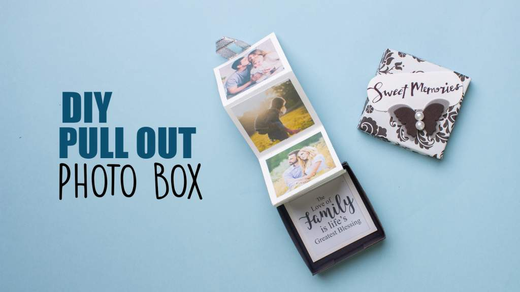 DIY Pull Out Photo Box  Accordion Photo Album