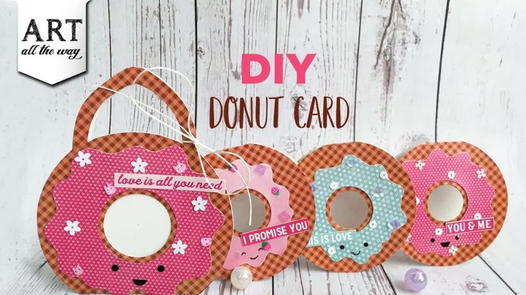 DIY Donut Card  Creative Card Design  Handmade Greeting cards  Simple Gift Ideas  Birthday card