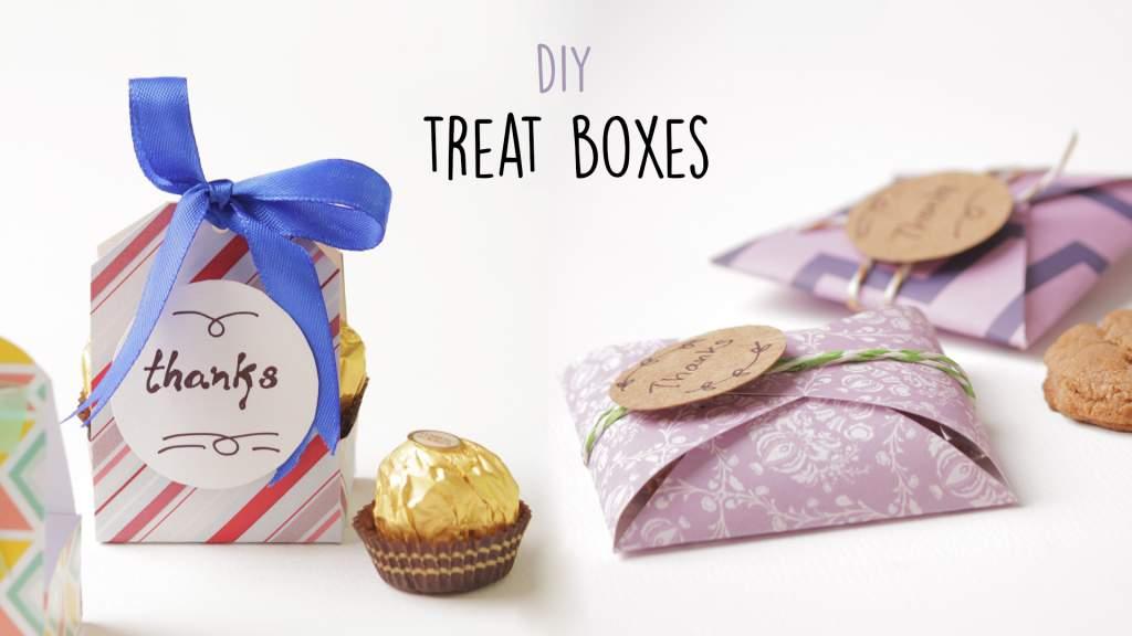 Treat Boxes  DIY Party Favors