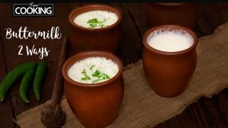How to Make Buttermilk  Masala Buttermilk Recipe  Masala Chaas  Mattha Recipe  Buttermilk 2 Ways
