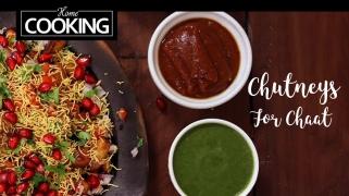 Chutneys For Chaat  Date & Tamarind Chutney  Mint & Coriander Chutney  Chaat Chutneys