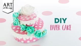 DIY Paper Cake  Home Decoration  Paper Craft ideas  Party Favors  Kitchen Decors  Cake Props
