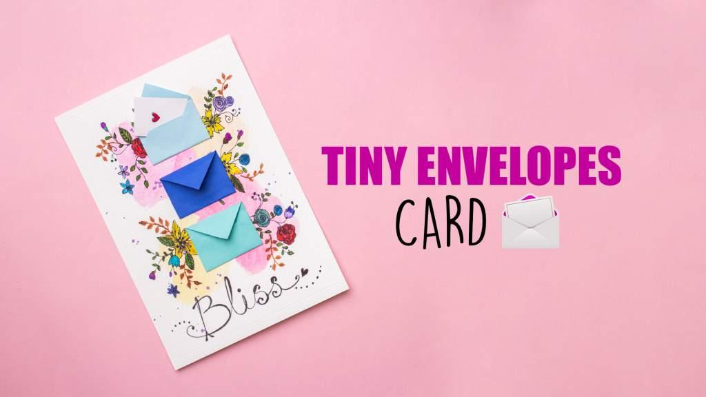 Tiny Envelopes Card Handmade card  Mini Envelopes
