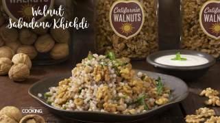 Walnut Sabudana Khichdi  Virat Recipes  Healthy Reicpes