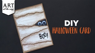 DIY Halloween Card  Halloween craft ideas  Handmade Card Ideas