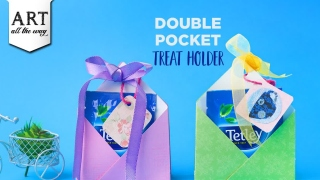 Double Pocket Treat Holder  Paper Craft Ideas  Chocolate gift box  DIY Party Favors  Kids Crafts