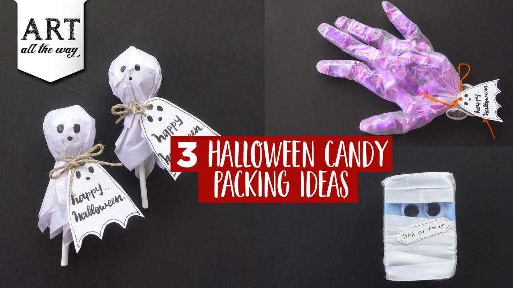 3 Halloween Candy Packing Ideas  DIY Halloween crafts  Halloween Gift ideas
