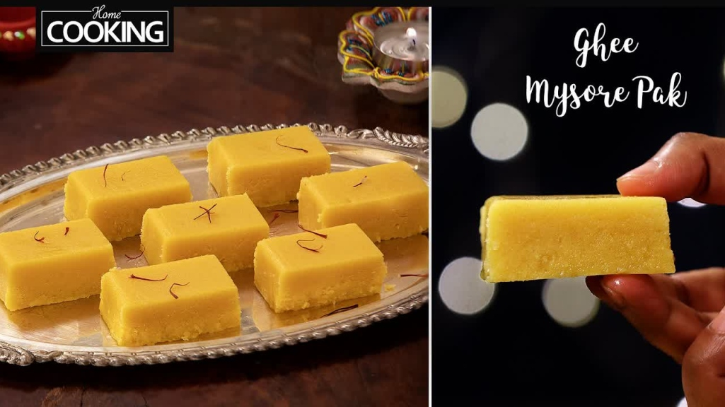 Ghee Mysore Pak -Diwali Sweets