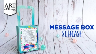 Message Suitcase Box  DIY Mini Trolley Bag  Miniature Luggage  DIY Paper Craft  Easy to make